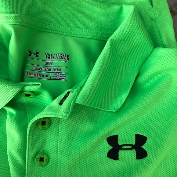 Inmigración pedir disculpas Distribuir  Under Armour Shirts & Tops | Bright Green Under Armour Polo | Poshmark